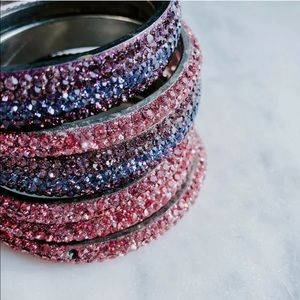 Swarovski Crystal Encrusted Set Bangle Bracelets